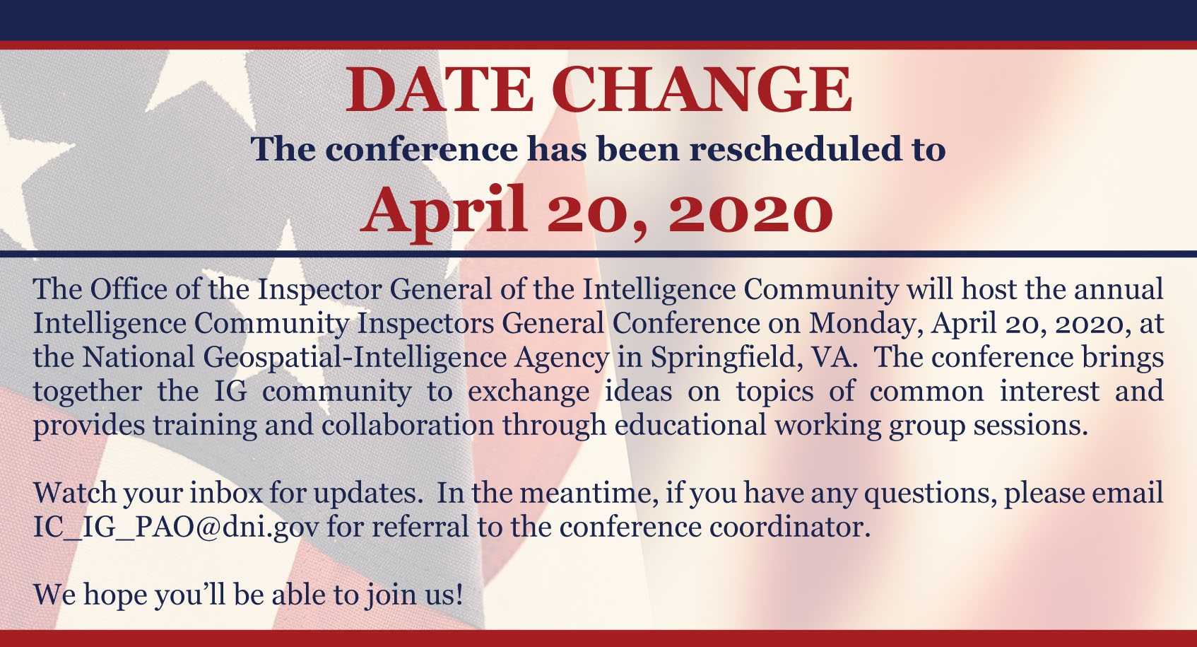 ICIG 2020 Conference Save the Date   Carousel