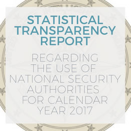 IC Transparency Report for Calendar Year 2017