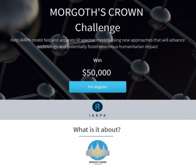 "IARPA Announces Chemical Detection Challenge  ""MORGOTH'S CROWN"" Seeks Innovative Algorithms to Advance Security"