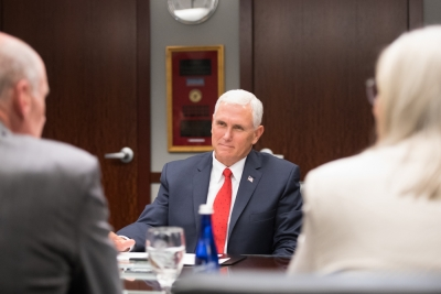 Vice President Mike Pence Visits the ODNI, Tours National Counterterrorism Center with Director of National Intelligence Dan Coats