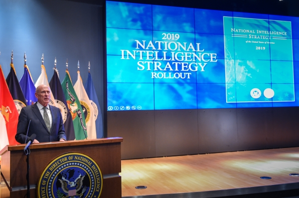 Remarks as Prepared for Delivery by the Honorable Dan Coats Director of National Intelligence Presentation of the 2019 National Intelligence Strategy