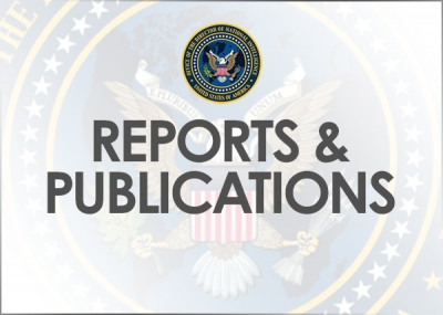 Status Report on the Implementation of Executive Order 13698 Hostage Recovery Activities